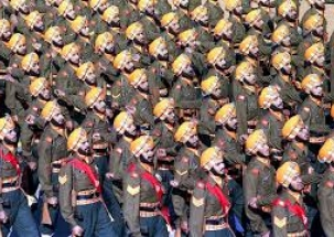 WATCH Soldiers of Sikh Light Infantry Regiment celebrating Bada Khana in Kibithu