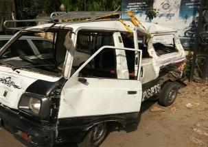 Delhi: 1 student killed, 17 injured in school van-tanker collision in Kanhaiya Nagar