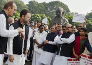 Bharat Bandh: Rahul Gandhi, Sonia Gandhi, Manmohan Singh, among others take part in protest