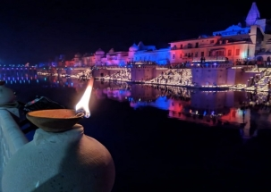 Deepatsov: 3 lakh earthen lamps lit on banks of Sarayu river, enters world record