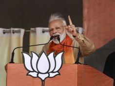 IN PICS: PM Modi Addresses Rally In Haryana, Slams Congress Over Article 370