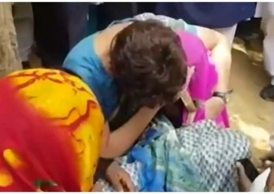 Priyanka Gandhi turns emotional while meeting kin of Sonbhadra victims