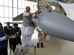 Rajnath Singh Receives First Rafale Jet, Offers Shastra Puja, Takes A Sortie