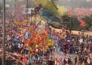 Adressing rally, RSS leader 'Bhaiyyaji' Joshi invokes the 1992 Babri Mosque demolition
