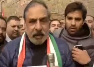 Congress leader Anand Sharma celebrates victory in Delhi