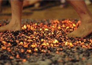 Devotees walk barefoot over bed of hot embers in Jalandhar