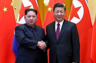 North Korean leader Kim Jong Un meets Chinese President Xi Jinping