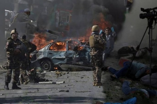 Kabul blast: Double suicide bombing in Afghanistan's capital claims 20 lives