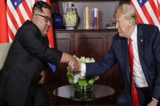 Trump Kim Summit: Donald Trump, Kim Jong Un meet one-on-one at Capella Hotel in Singapore