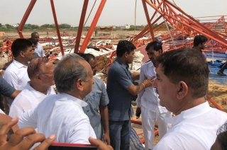 Rajasthan CM Ashok Gehlot meets kin of Barmer pandal collapse