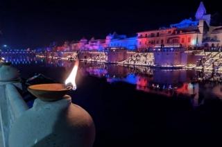 Deepatsov: 3 lakh earthen lamps lit on banks of Sarayu river, enters world record