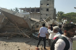 Under construction building collapses in Karnataka's Dharwad