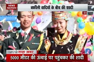 China girl travels 2,000 km to tie knot with soldier husband
