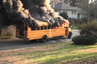 Himachal Pradesh: Arni University bus catches fire in Kangra