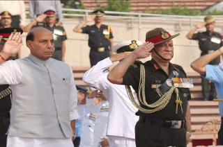 Defence Minister, Army Chief pay tribute to Martyr Major Ketan Sharma