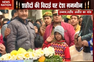 7 years old daughter of killed jawan shows solider like gesture