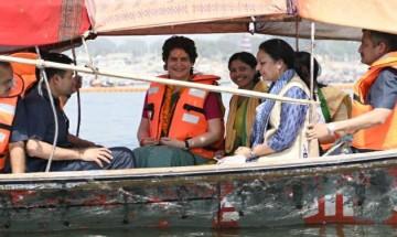 In pictures: Priyanka Gandhi's 'Ganga Yatra' from Allahabad to Varanasi