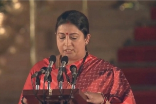 Swearing-in ceremony: Smriti Irani takes oath as Union Minister