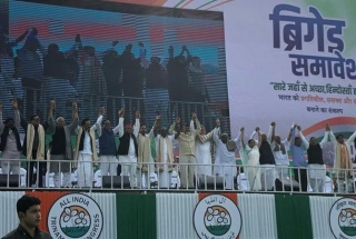 Leaders of 20 national parties show Opposition Unity at TMC's mega rally