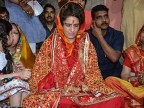 Priyanka Gandhi visits Vindhyavasini Temple on Day 2 of 'Ganga Yatra'