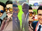 Ranveer Singh's day out with cricketing greats in Manchester