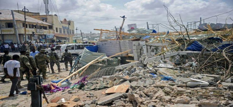 Extremist attack on Somalia hotel (Photo Source: Twitter)