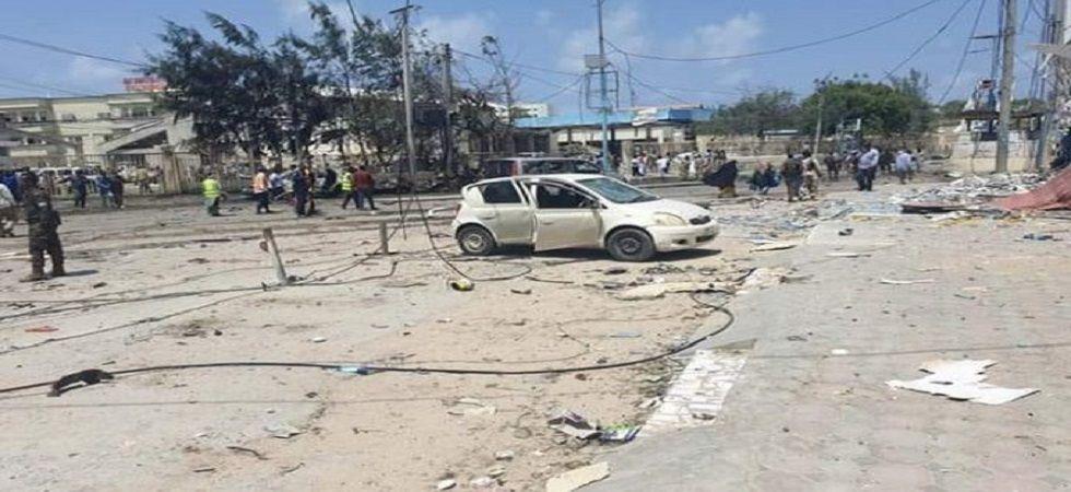 17 people killed, 28 injured in bomb blast outside hotel in Somalia's Mogadishu. (Source: Twitter)